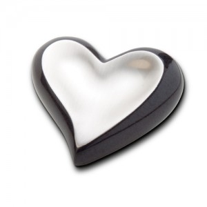 Keepsake Heart (Black Marble and Silver)