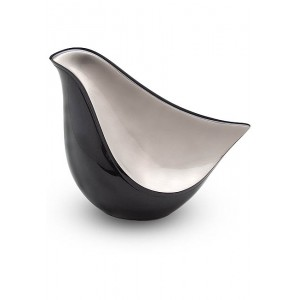 Lovebird Urn - Black and Silver