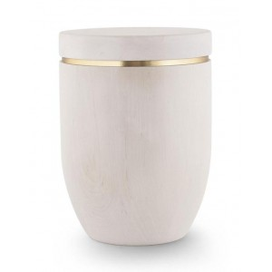 Wooden Urn (Flat Top in White Birch)