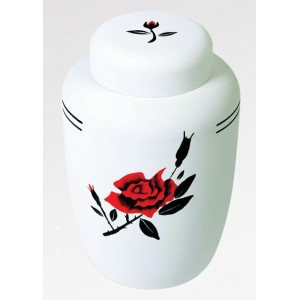 Cornstarch EcoUrn - Red Rose Design - Hand Crafted to the Highest Standards ** SOLD OUT**