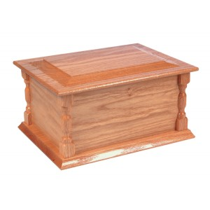 Bedale Wooden Cremation Ashes Casket - FREE Engraving