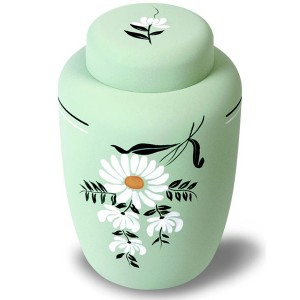 Cornstarch EcoUrn - Floral Daisy - Beautiful Hand Painted Urns