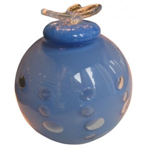 Infant Dali Glass Urn (Blue)