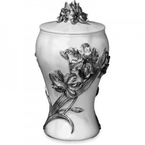 Pewter Urn - Lily Marble Effect Finish