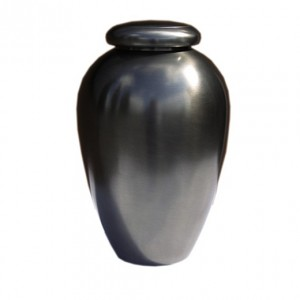 Plain Pewter Urn