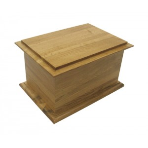 Antique Solid Oak Cremation Ashes Casket