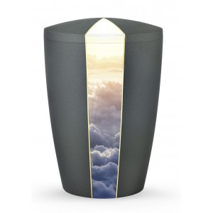 Heaven's Edition Biodegradable Cremation Ashes Funeral Urn – Clouds / Anthracite Surface