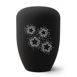 Karat Edition Biodegradable Cremation Ashes Funeral Urn – Deep Black, Starry Crystal