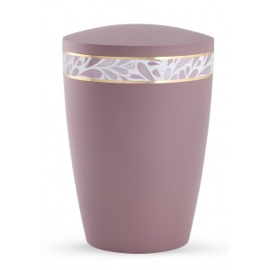 Pastel Edition Biodegradable Cremation Ashes Funeral Urn – Dark Rose Pink with Floral Border