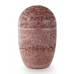 Steel Urn (Artificial Stone Design – Red)