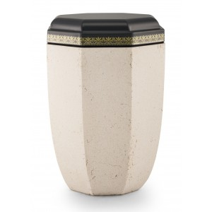 Steel Urn (Artificial Stone Coating – Creamy White)