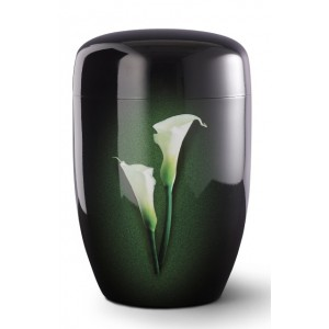 Fall in Leaves – Series Fleur Noire - Cremation Ashes Urn – CALLA LILY